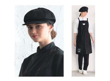 制服も既存店のものから一新! エプロンと帽子を支給します♪