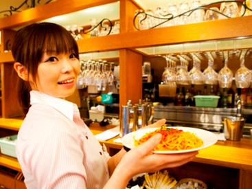 【イタリアンSTAFF】横浜モアーズ内だから雨でも傘いらず♪柔軟シフト◆授業、家事との両立OK◎就職活動の終了した学生歓迎♪まずはやってみよう!
