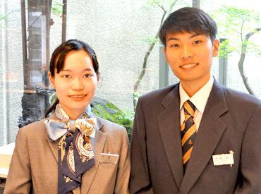 笑顔でお客様をおもてなし♪国内からのお客様が多いので、英語が話せなくても大丈夫ですよ◎