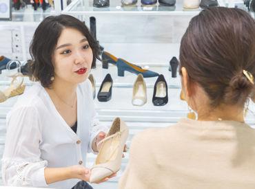 じっくりとヒアリングしてお客様にピッタリの1足を♪あなたのペースで、時にはお喋りを楽しみながら販売していきましょう。:+*