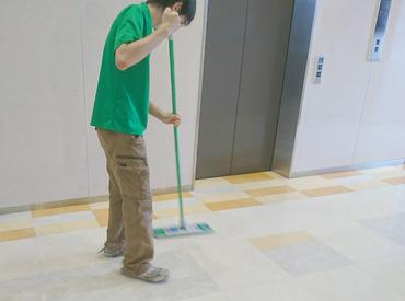 【清掃STAFF】\接客なしの簡単ワーク/アミューズメント施設でのお仕事!共有部の拭き掃除や掃き掃除♪1日1時間のみのパトロールも◎