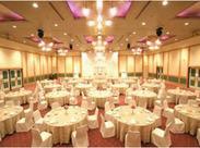 結婚式を始めとする各種宴会などのホールサービススタッフをお願いします!