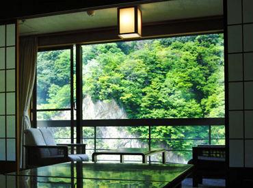大自然に囲まれて働ける♪ ~「延楽」で旅館バイト~ 「住み込みで働きたい」そんな方はお気軽にご相談ください◎