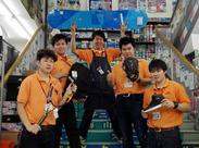 ☆スタッフ皆仲良し☆ 趣味の合う仲間たちと最高に楽しく働いています♪