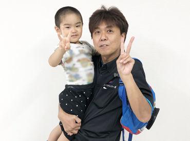 上記は営業所長と隊員のお子様のお写真です♪ 園児の送迎サポートも行っています◎