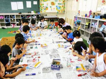 子どもたちと一緒に遊んだり、イベントをしたり…アナタ自身も楽しみながらお仕事できますよ★