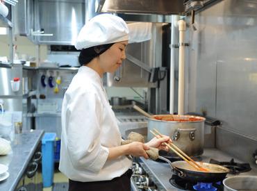 【キッチンSTAFF】週2日~◎料理のコツや盛り付け方法などカフェのお仕事が基本から学べます<未経験スタート多数>