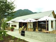 オープンテラスもあるおしゃれなカフェ♪観光客のお客様に人気なスポット!