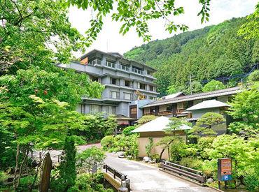 豊かな自然に囲まれ、地元名栗の木々をつかった癒しの旅館『大松閣』... 穏やかな時間が流れます*○.