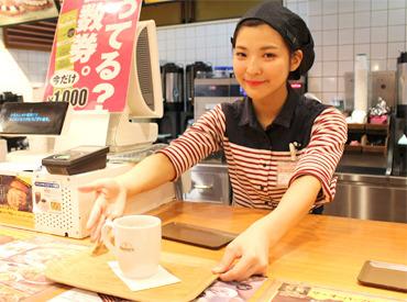【ハンバーガーカフェSTAFF】+☆未経験・バイトデビュー大歓迎☆+レジやドリンク作りなど出来ることからでOK♪駅チカだから通勤はらっくらく◎